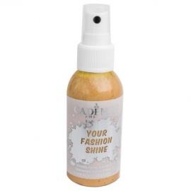 Spray na textil 100 ml - krycí perleťový - zlatý