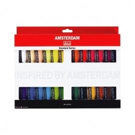 Sada akrylových barev amsterdam 24x20 ml