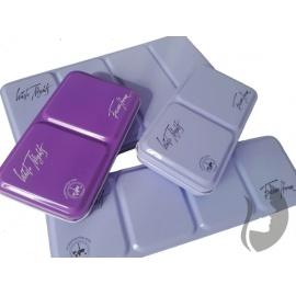Plechová krabička na akvarelové barvy 21  panviček