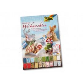 Papíry na scrapbook 24*34 cm - vánoční 20 ks