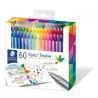 "Finelinery ""Triplus"", sada 60 různých barev, 0,3 mm,"