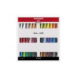 Sada akrylových barev amsterdam 36x20 ml