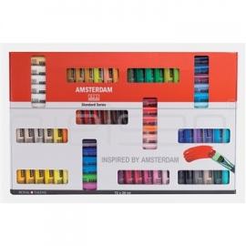 Sada akrylových barev amsterdam 72x20 ml