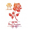 Šablona na textil růže A4