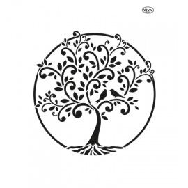 Šablona na textil strom života A4