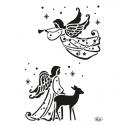 Šablona na textil andělé A4