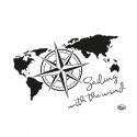 Šablona na textil mapa světa A4