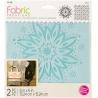 Šablona na textil - 2 ks šíře 15*15 cm - květina a pozadí