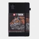 Blok sketch book black 13*21 cm - 140 gr -  80 černých listů