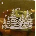 Šablona 6,5*6,5 cm - lesík