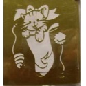 Šablona 6,5*6,5 cm - kotě