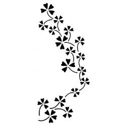 Šablona 15*30 cm - čtyřlístky