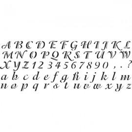 Šablona abeceda a písmena script