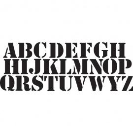 Šablona abeceda a písmena base