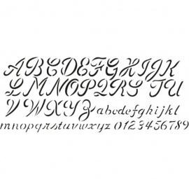 Šablona abeceda a písmena ozdobné