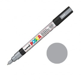 Uni Posca PC3 - akrylový fix 0,9-1,2mm - stříbrná