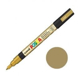 Uni Posca PC3 - akrylový fix 0,9-1,2mm - zlatá