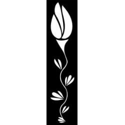 Šablona 15*60 cm -květ