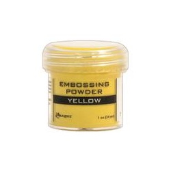 Embossový pudr - žlutý
