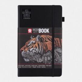 Blok sketch book black 9*14 cm - 140 gr -  80 černých listů
