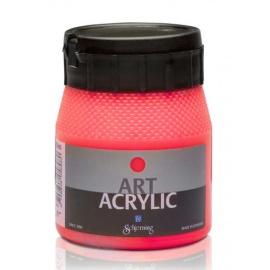 Art Acrylic 250 ml- fluo červená