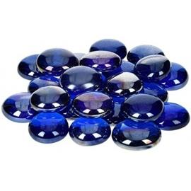 Nugety sklo 100gr- modrá iridescentní 13-15 mm