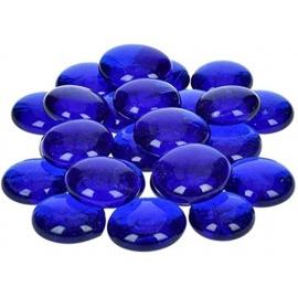 Nugety sklo 100gr- modrá iridescentní 18-20 mm