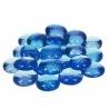 Nugety sklo 100gr- modrá světlá 13-15 mm