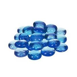 Nugety sklo 100gr- modrá světlá 18-20 mm