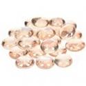 Nugety sklo 100gr- růžová iridescent 13-15 mm