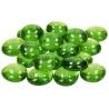 Nugety sklo 100gr- sv. zelená iridescent 13-15 mm