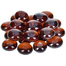 Nugety sklo 100gr- topasová iridescent 13-15 mm