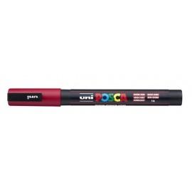 Uni Posca PC3 - akrylový fix 0,9-1,2mm - tmavá červená