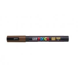 Uni Posca PC3 - akrylový fix 0,9-1,2mm - hnědá