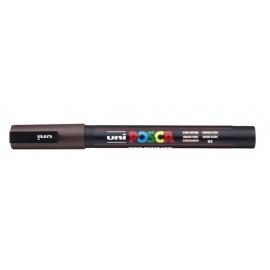 Uni Posca PC3 - akrylový fix 0,9-1,2mm - tmavá hnědá