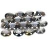 Nugety sklo 100gr- černá iridescentní 13-15 mm