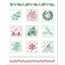 Silikonové razítko 14*18 cm vánoční razítka D69