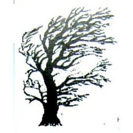 Razítko na enkaustiku  strom vítr  65*50 mm