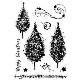 Silikonové razítko - stromy
