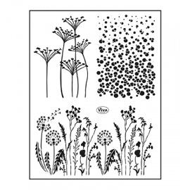 Silikonové razítko 14*18 cm traviny