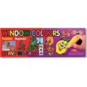 Slupovací barvy na sklo 9*20 ml + 40 ml kontura + předlohy