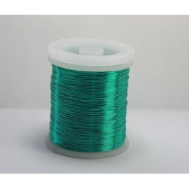 Lakovaný měděný drátek 0,5 mm/20 m mentol