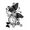 Šablona - motýl a hodiny  A4