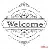 Šablona - welcome 25*25 cm