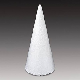 Polystyrenový kužel velký 40 cm