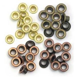 Průchodky kovové teplé odstíny