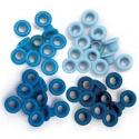 Průchodky kovové modré odstíny