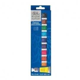 Sada akvarelových barev Cotman 10*5 ml v tubách