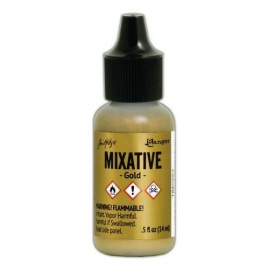 Ranger Mixative 15 ml - alkoholový inkoust - zlatá