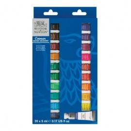 Sada akvarelových barev Cotman 20*5 ml v tubách